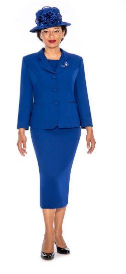 Giovanna,skirt suit,0824,royal blue