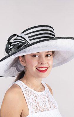 kaka 102585, white-black church hat,White-black Kentucky derby hat