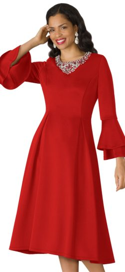 lily and Taylor, 4197, red scuba dress