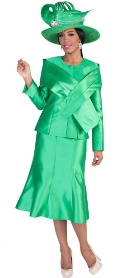 tally Taylor,emerald skirt suit, 4636