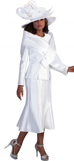 Tally Taylor, Skirt Suit 4636, white skirt suit
