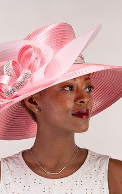 AJ612Y, pink church hat, Kentucky derby hat