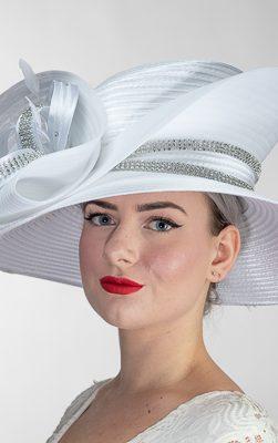 AJ612Y-WT, church hat, Kentucky derby