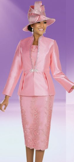 benmarc, 48208, pink church suit, First Lady skirt suit