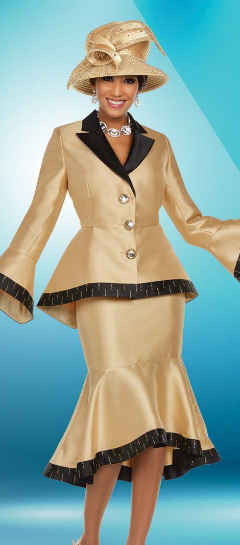 benmarc, gold church suit, 48210, womens gold church suit
