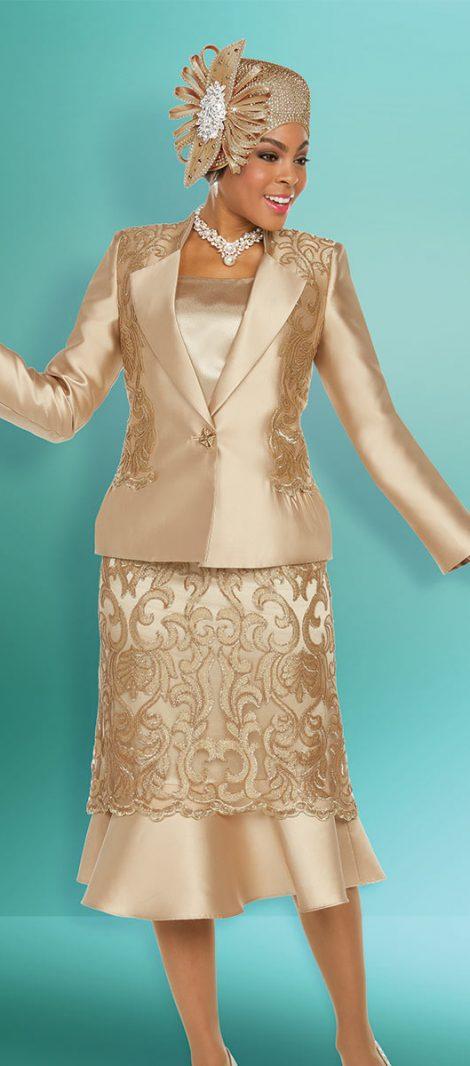 Benmarc,48215,gold, church suit