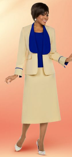 benmarc executive, yellow skirt suit, 11753