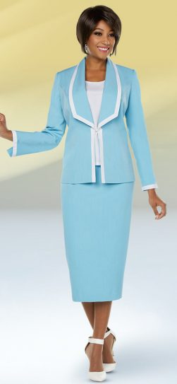 benmarc executive, light blue skirt suit, 11754