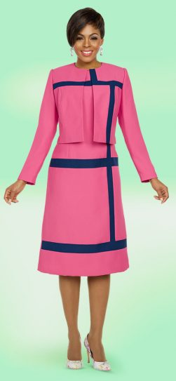 benmarc executive, hot pink jacket dress, pink church dress