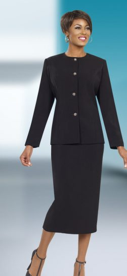 benmarc executive, 11572, black skirt suit