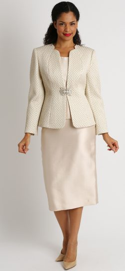 Diana, 8401, champagne skirt suit