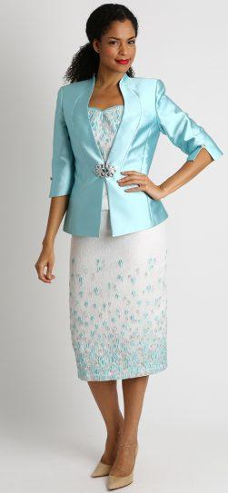 Diana, 8425, mint skirt suit