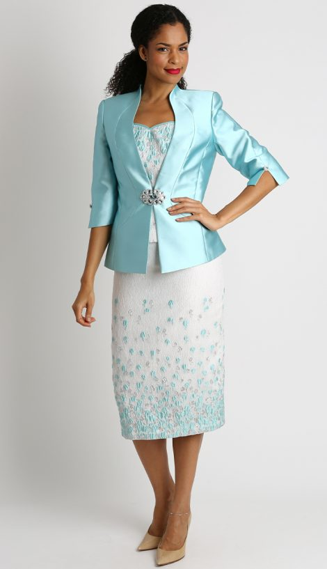 Diana, 8425, mint skirt suit
