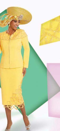 Donna Vinci, Yellow skirt suit, 11730