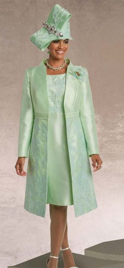 donna vinci, church dress 11746, mint church dress
