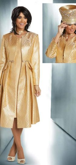 Donna Vinci, Dress and jacket, gold dress and jacket, 11747