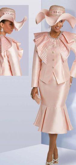 donna vinci, skirt suit, 11752, pink first let suit