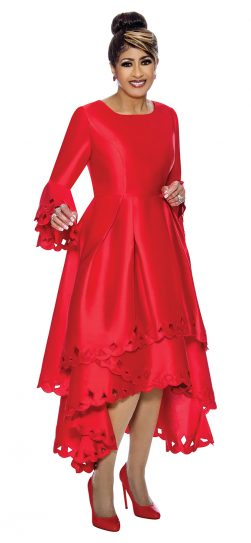 dorinda clark-cole, dcc1431, red church dress