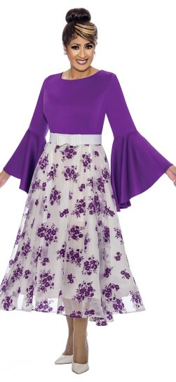 dorinda clark-cole, dcc1831, purple women's church dress