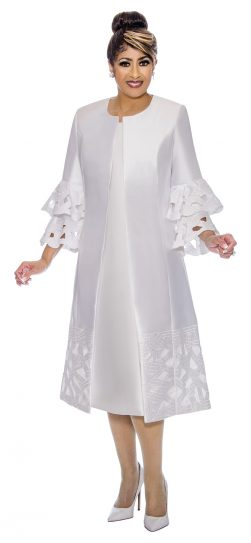 dorinda clark-cole, dcc1932, white women's church dress,