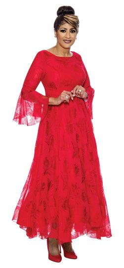 dorinda clark-cole, dcc2021, red long lace dress