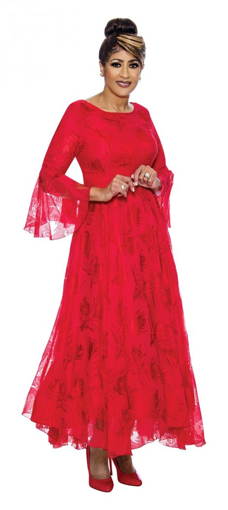 dorinda clark-cole, dcc2021, red long lace dress