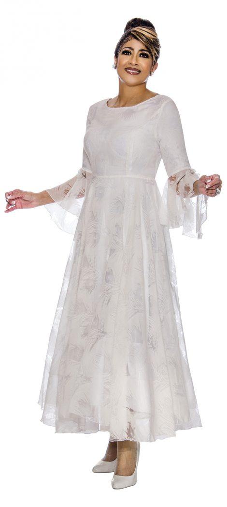 dorinda clark-cole, dcc2021, long white church dress