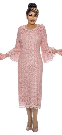 dorinda clark-cole, dcc2101, pink lace church dress