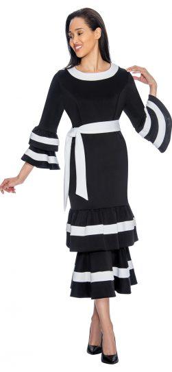 Dress by Nubian,dn3131, black-white