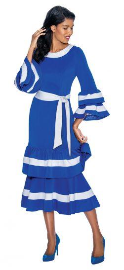 dress by Nubian, DN3131,royal-white