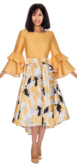 dress by nubiano, DN2931, yellow church dress