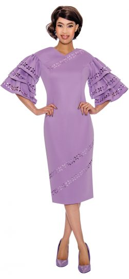 dress by nubiano, church dress, ladies church dress, women's church dress, DN2961, lilac church dress