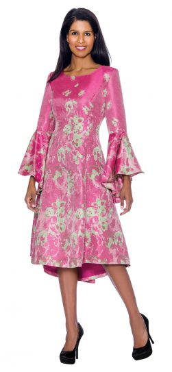 Dress by nubiano, DN2981, pink church dress