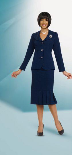 Benmarc skirt suit 78095 Blue