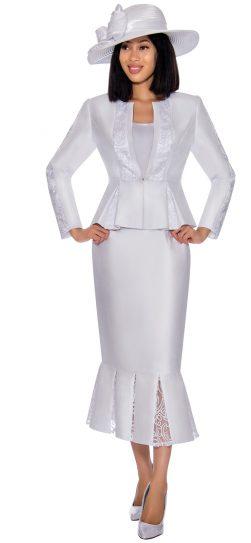 gmi, 7123, white skirt suit