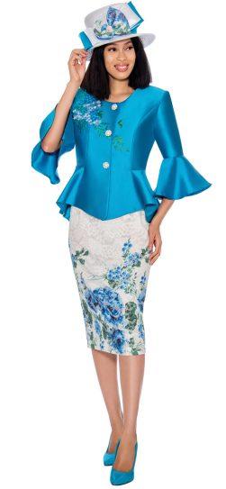 gmi, 7162, ladies royal blue church suit,