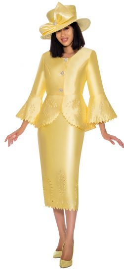 gmi, 7192, yellow ladies church suit