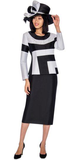 GMI, 7212, black-white church suit, ladies church suit
