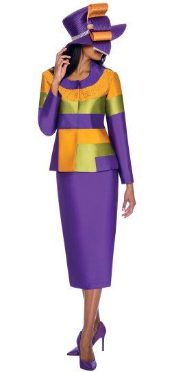 gmi,7212, purple skirt suit