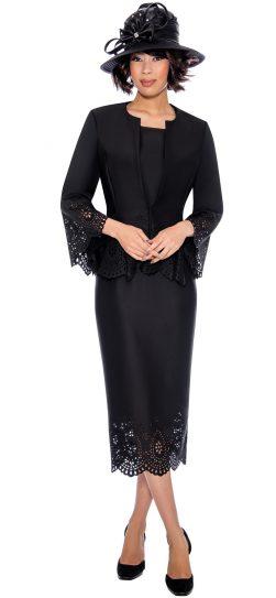 gmi, 7253, black skirt suit