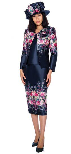 GMI, G7313,navy jacket dress, women's church dress