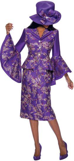 gmi, 7372, purple church suit