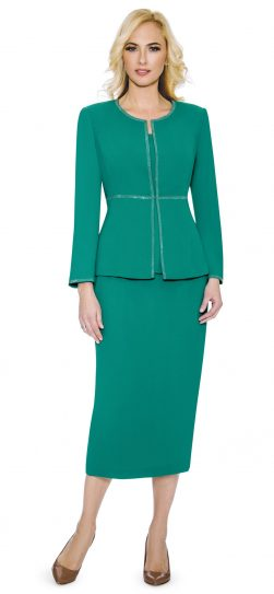 giovanna, skirt suit, 0652,emerald skirt suit