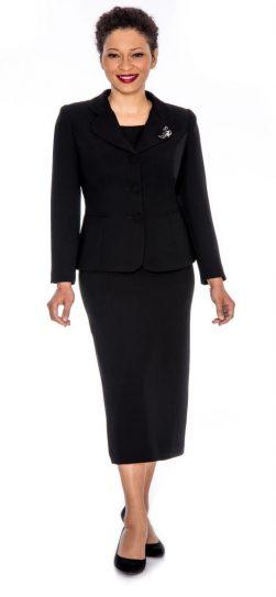 Giovanna,skirt suit, black usher suit, 0824