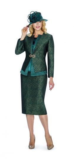giovanna, 0907, brocade skirt suit, emerald