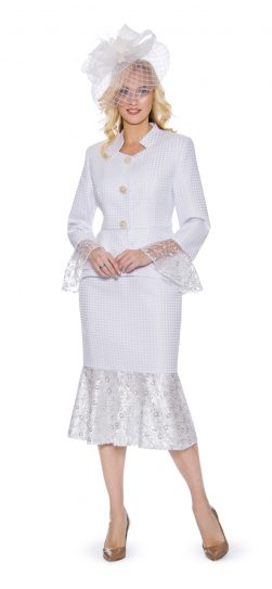 Giovanna, 0914, white church suit, white skirt suit