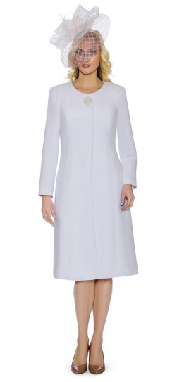 giovanna, 0921, white jacket dress, washable usher dress