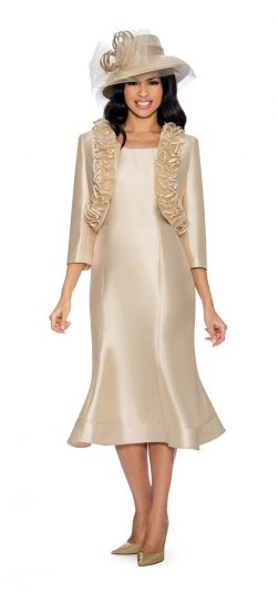 Giovanna, jacket dress, copper, champagne, white,G1499