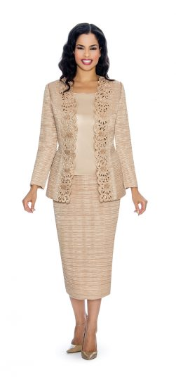 Giovanna, champagne skirt suit, dressy champagne church suit, g1011