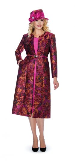 giovanna.G1062,fuchsia dress and jacket,